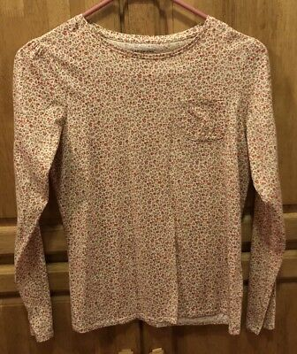Land's End Girls Floral Long-Sleeve Shirt Size L 14