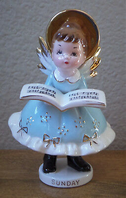Day of the Week SUNDAY Child Figurine by Josef Originals Choir Girl Angel w/Book