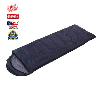 Lightweight Sleeping Bag w/ Compression Sack Compact for Camping Sleepovers blue