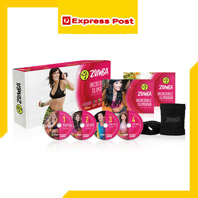 Zumba Fitness Incredible Slimdown Dance DVD System Weight Loss Workout