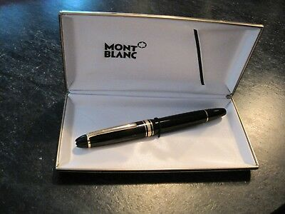 Montblanc Meisterstuck 166 Black & Gold Plated Trim, Document Marker/In the Box