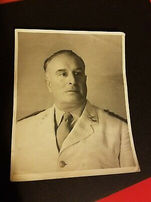 """1949 Foreign Military Leader Signed 8"""" x 10"""" Portrait"""