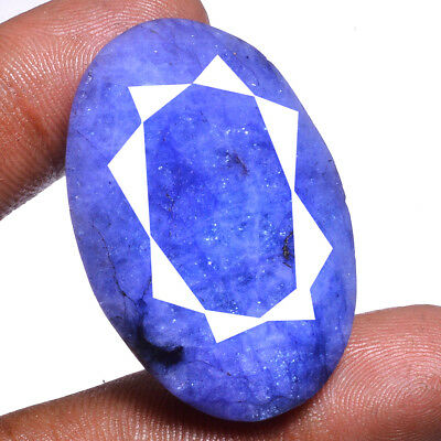 118 Ct Natural USA Blue Beryl Faceted Cut Pendant Size Gemstone  ~ 41x29x13 MM