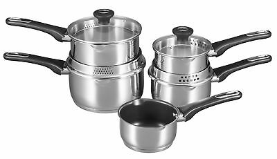Chefmate Cuisine Saucepan 18/10 Stainless Steel Induction Glass Draining Lid