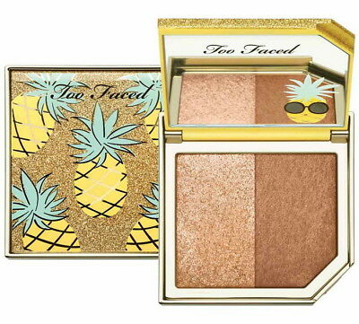 TOO FACED TUTTI FRUTTI PINEAPPLE PARADISE BRONZER DUO in Box 💯Authentic +TF Bag