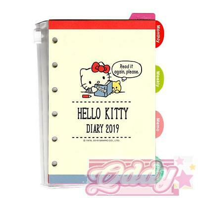 2019 Hello Kitty Agenda Refills for Filo Pocket Organizer Pages PINK Japan
