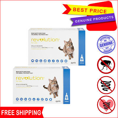 REVOLUTION for Cats 12 Pipettes 2.6 to 7.5 Kg Blue Pack