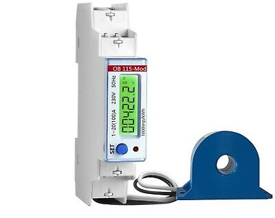OB115-MOD 100A CT Operated MID Import and Export kWh Electricity Solar PV Meter