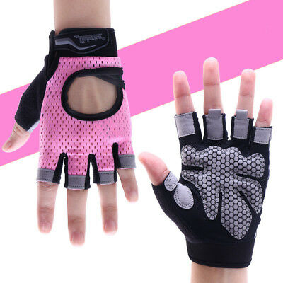 Fingerless Fitness Gloves Weight Lifting Ladies Gym Sports Training Gloves XS-S