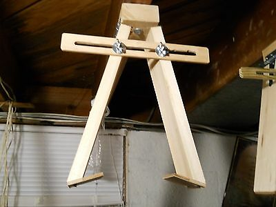 Original Hand Free Hanging Cuckoo Clock Repair Test Stand Bracket