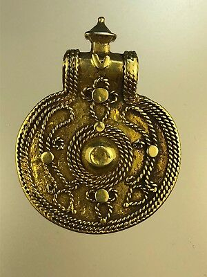 Antique Islamic Seljuk Dynasty  21 K Solid Gold Pendant 11 - 12 Century Persia