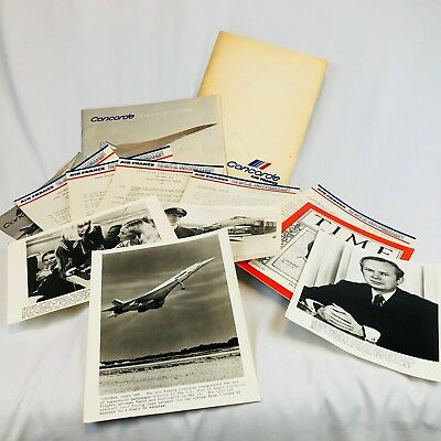 Vintage 1976 Air France Concorde Official Press Kit Photos News Releases Specs