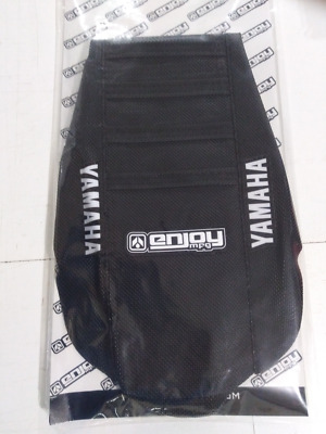 Yamaha YZ 125 250 1996 - 2001 Ribbed Gripper Seat Cover All Black Ribs Motocross