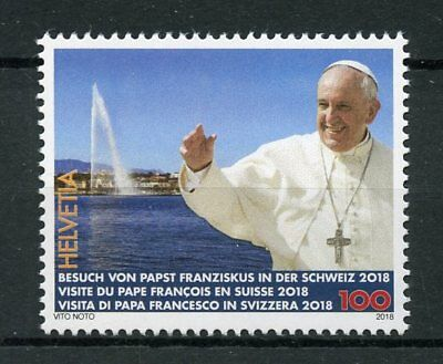 Switzerland 2018 MNH Pope Francis Papal Visit 1v Set Popes Religion Stamps