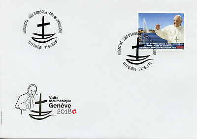 Switzerland 2018 FDC Pope Francis Papal Visit 1v Set Cover Popes Religion Stamps