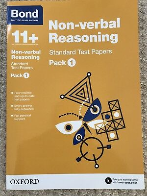 Bond 11+: Non-verbal Reasoning: Standard Test Papers: Pack 1 by Andrew...