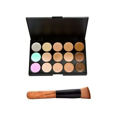 15 Color Camouflage Concealer Make Up Cream Palette with Brush Q1B9 B8