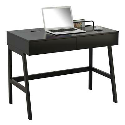 SixBros. Computertisch Computerschreibtisch PC Home Office Schwarz CT-3534A/2185