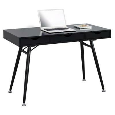 SixBros. Computertisch Computerschreibtisch PC Home Office schwarz CT-3555NA/219