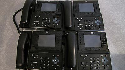 Lot of 4 Cisco 9951 CP-9951-C-K9 Unified VOIP IP Phone