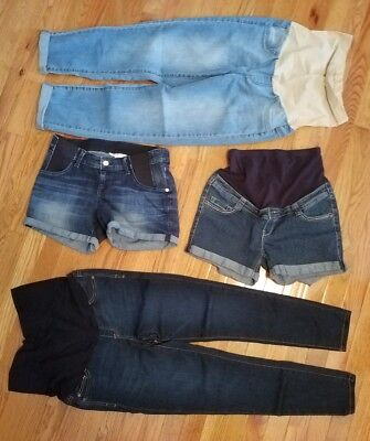 Liz Lange Maternity Shorts & Other Skinny Jeans Capris Crops Lot XSmall & Small