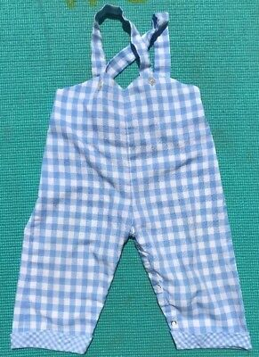 Vintage Bib Overalls Checkered Blue White Size ?12-18 Months?
