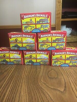 Nabisco Barnum's Animal Crackers Box Cage Background, Discountinued (Lot Of 6)