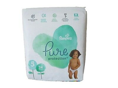 24 Pampers Pure Protection Nappies Size 5 (11+kg 24+lbs)