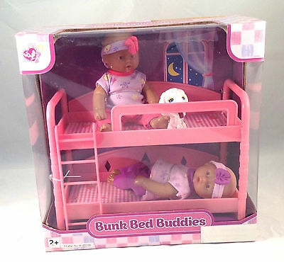 New!  Bunk Bed Buddies Baby Girl Doll Playset