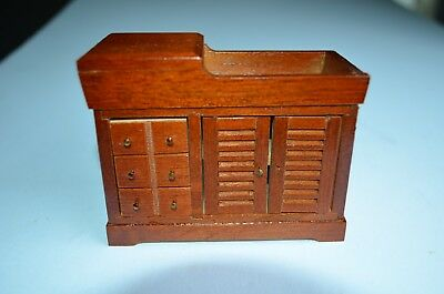 Vintage Miniature Dollhouse Hardwood Furniture Dry Sink ..Hand Crafted