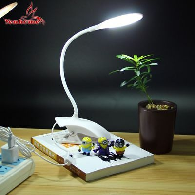 USB Table Lamp Clip On Flexible Bright Reading Book Light Portable Desk LED Ligh