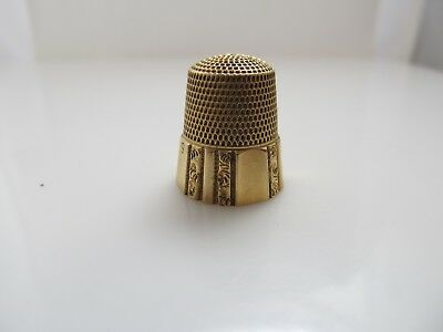 Simons Brothers 14K Yellow Gold Thimble Vintage Antique