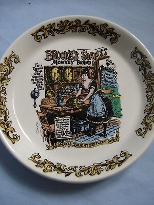 Lord Nelson Pottery trinket dish BROOKES SOAPS,,advertising ,kitchen/bathroom