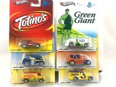 Hot Wheels Pop Culture General Mills  complete 6 car set Real Riders metal/metal