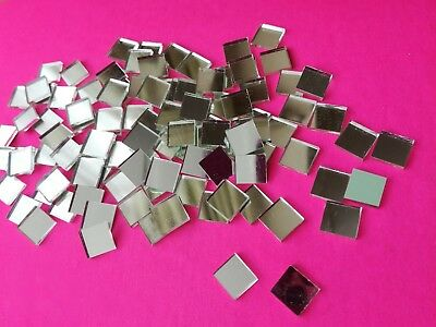 Mosaic Tiles - Mirror Craft-1cm x 1cm - 100 pieces per packet - 2MM THICKNESS