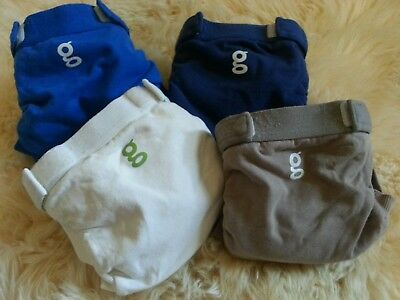 gDiaper Cloth Diapers Size Small 8-14 lbs lot of 4 velcro closure reusable