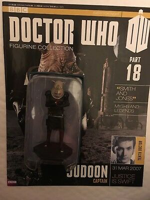 Bbc Series Doctor Who Dr Issue 18 Judoon Captain Eaglemoss Figurine + Magazine