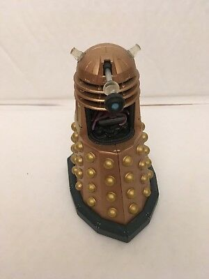 """5"""" Dr Doctor Who Golden Dalek Mutant Action Figure Bbc Series - Incomplete"""