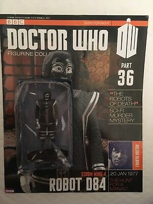 Bbc Series Doctor Who Dr Issue 36 Robot D84 Eaglemoss Figurine + Magazine