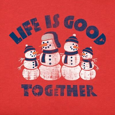 Life is Good Girls Long Sleeve Life is Good Together-Simply Red -Size XL (12-14)