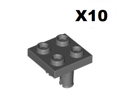 Lego ® Technic x4 Connecteur Double Dk Stone Grey Plate Inverted 2 Snape 15092