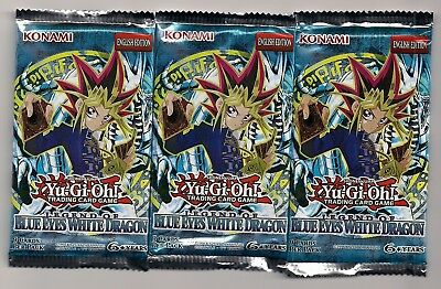 3 Booster Legend Of Blue Eyes White Dragon ungeöffnet englisch / sealed english