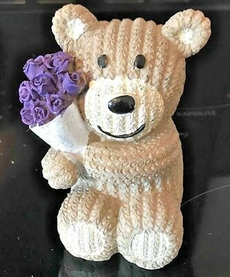Latex Mould for making this lovely teddy with flowers candle/ornament
