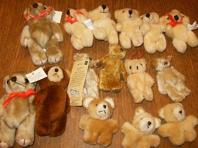 Bears - lot of 12 jointed plus 3 unjointed