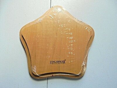 Longaberger Wood Star Lid #59196 Collectible New