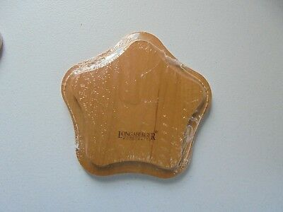 """Longaberger Wood Star Lid Collectible New 6"""""""