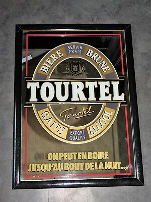 Miroir Publicitaire Vintage Biere Tourtel 44Cmx60Cm  Deco Bar  Loft Collection
