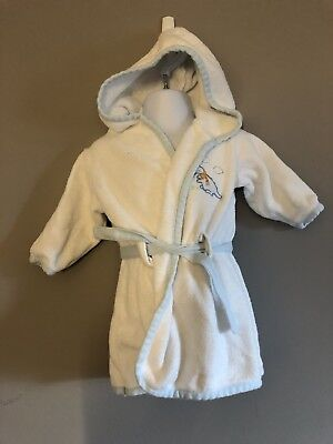 "Baby Boy Hooded Bathing Robe size 9-12 months ""Baby Harvest Brand"""