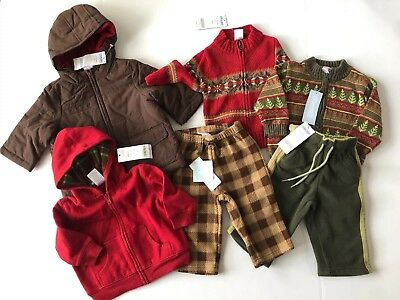 NWT Gymboree Boys Wholesale Lot 6 12 Months 6pc $177 Coat Fleece Sweaters Pants
