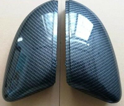VW Polo 6R Hydro Dipped Carbon Fibre Mirror Full Replacement 2011-2013 UK SELLER
